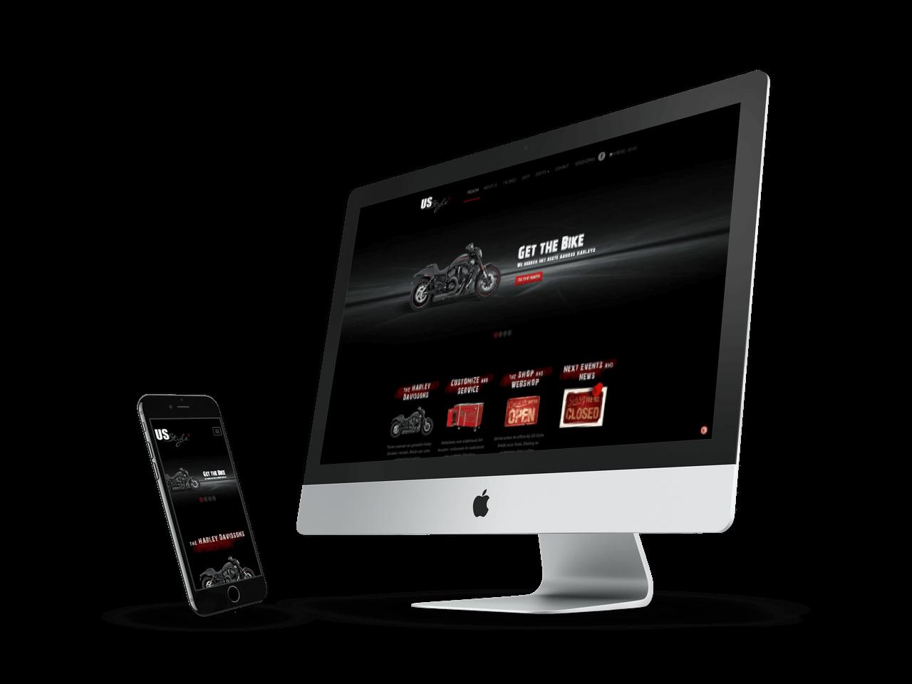 Logo, huisstijl en Website ontwerp US-Style Leende | Blok56 Weert