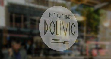 Logo, menukaart en belettering | Restaurant D'Olivio