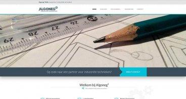 Logo, huisstijl en webdesign |  Algoneg, Industriële technieken