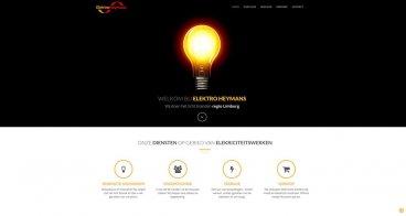 Logo, huisstijl, website Elektro Heymans | Electriciteitswerken