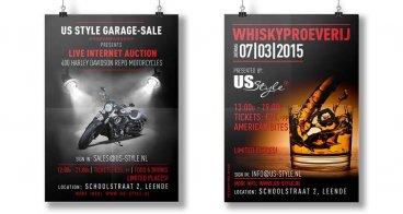 Poster, flyer en loten ontwerp | Loterij US-Style
