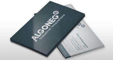 Visitekaartjes ontwerp | Algoneg Industrial Innovations
