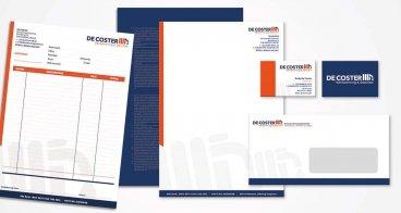 Logo, huisstijl en drukwerk | DeCoster verwarming