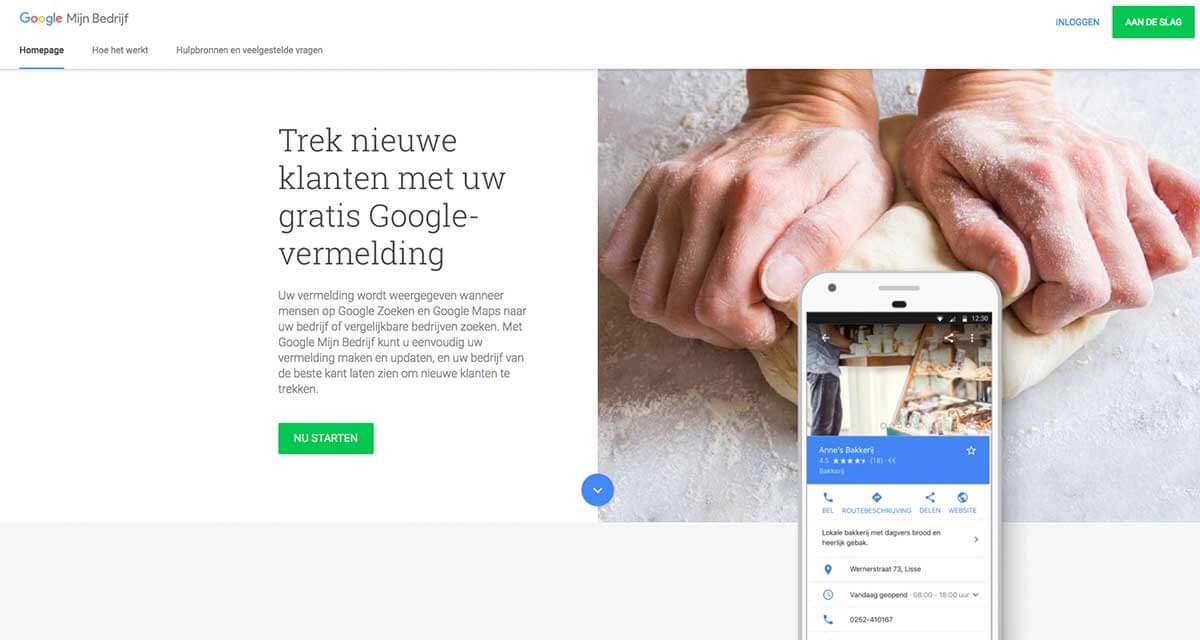 Meld uw bedrijf aan bij Google