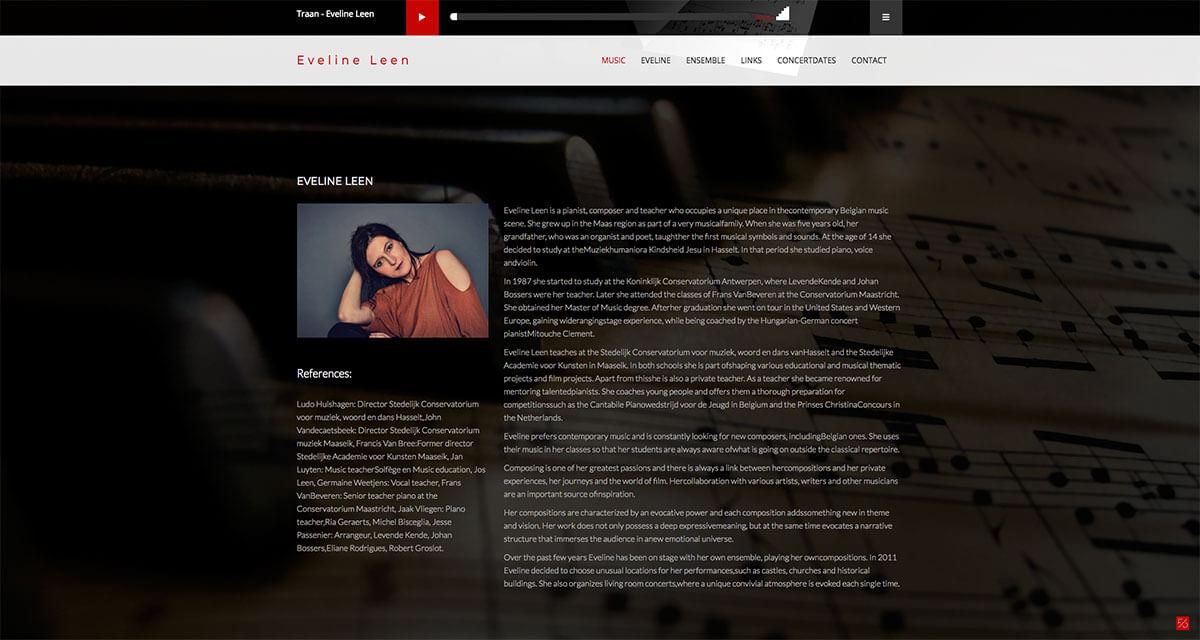 pianiste, componiste en lerares | Eveline Leen