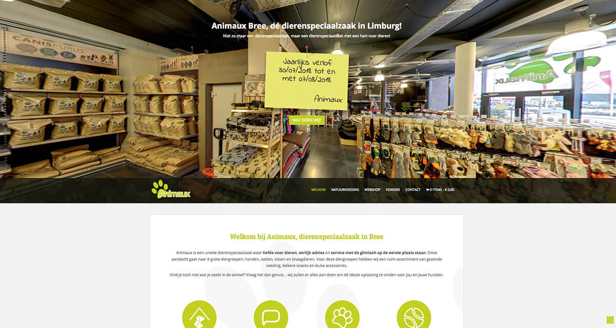 Webshop, (product)fotografie Animaux-Bree dierenspeciaalzaak
