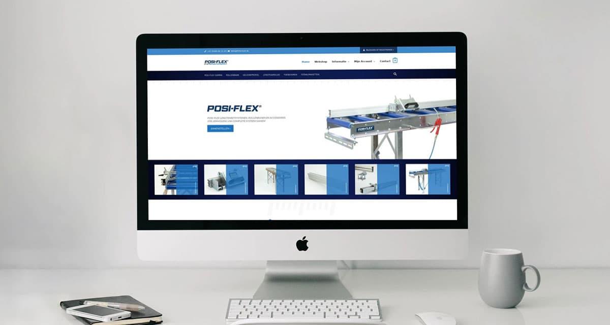 Webshop ontwikkeling voor Posi-flex