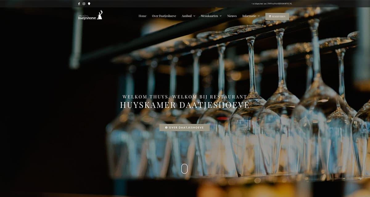 Website ontwikkeling voor Restaurant Huyskamer Daatjeshoeve