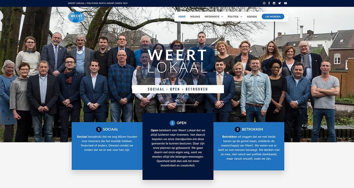 Website ontwikkeling voor Weert Lokaal | Blok56