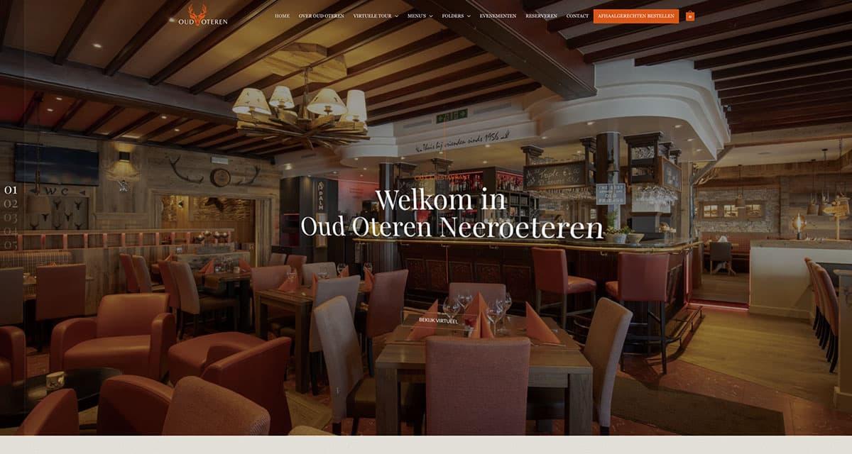 Stijlvolle website voor Restaurant Oud Oteren