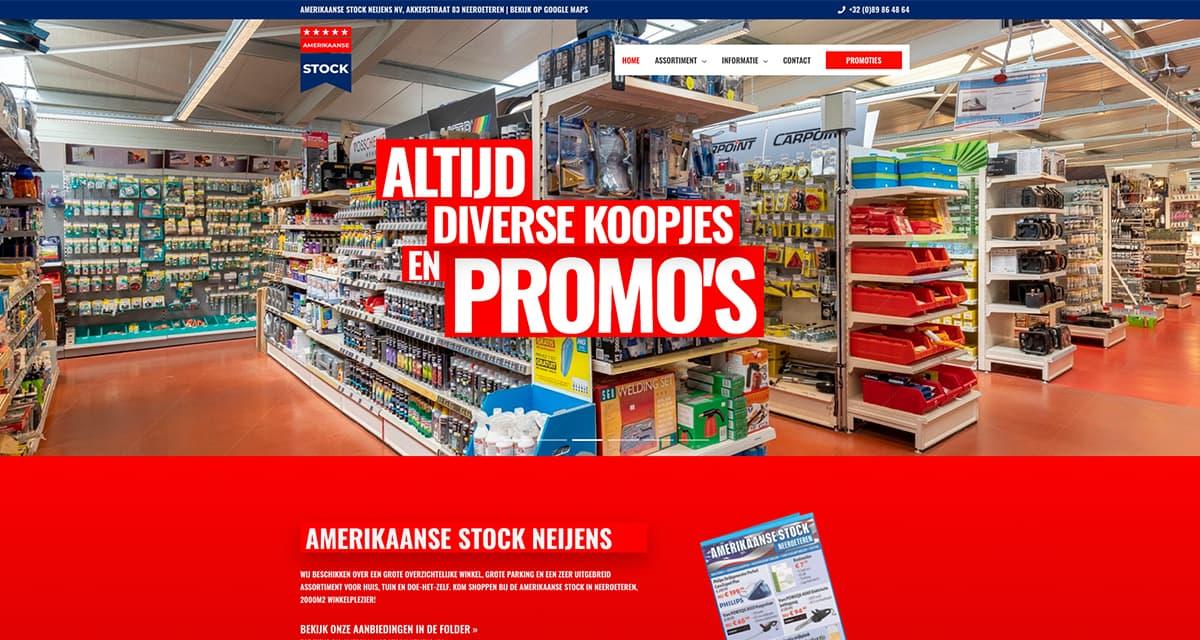 Amerikaanse Stock Neijens -homepagina