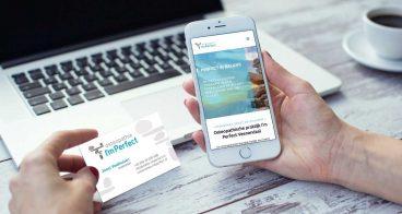 Totaalproject Osteopaat I'mPerfect   Logo, huisstijl en website