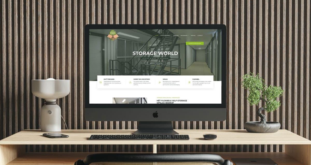 Ontwikkeling website Storage World Budel en Maarheeze