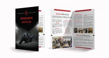 A4 Folder ontwerp en drukwerk