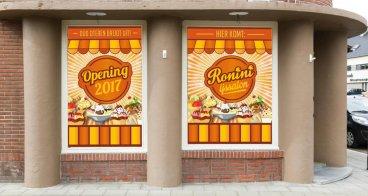 Raamstickers | Goedkope tijdelijke- of permanente reclame