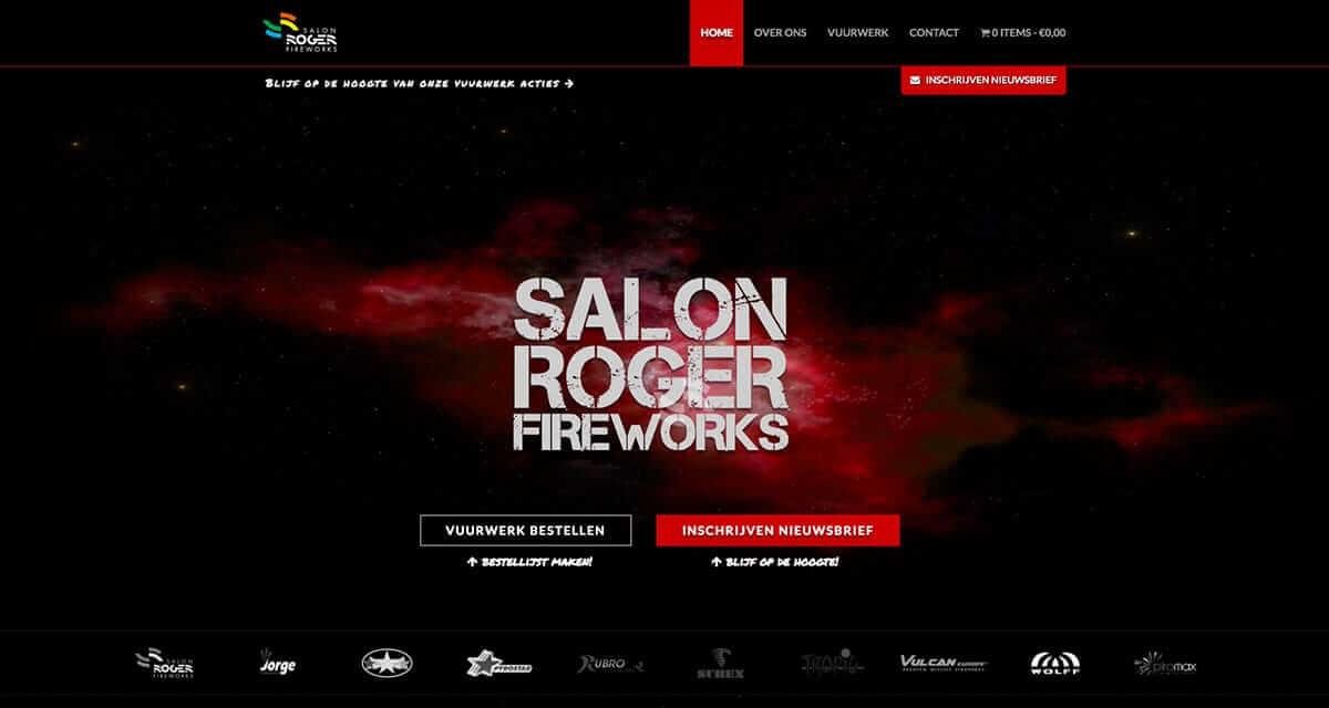 Responsive webshop voor Salon Roger Fireworks
