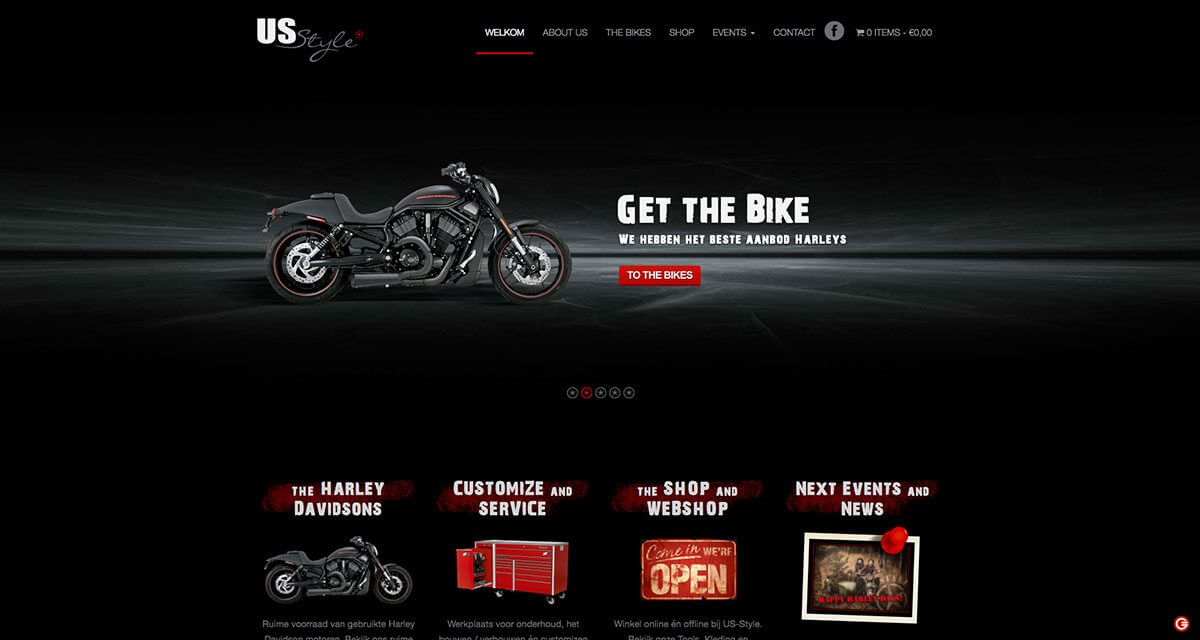 Webshop ontwerp US-Style