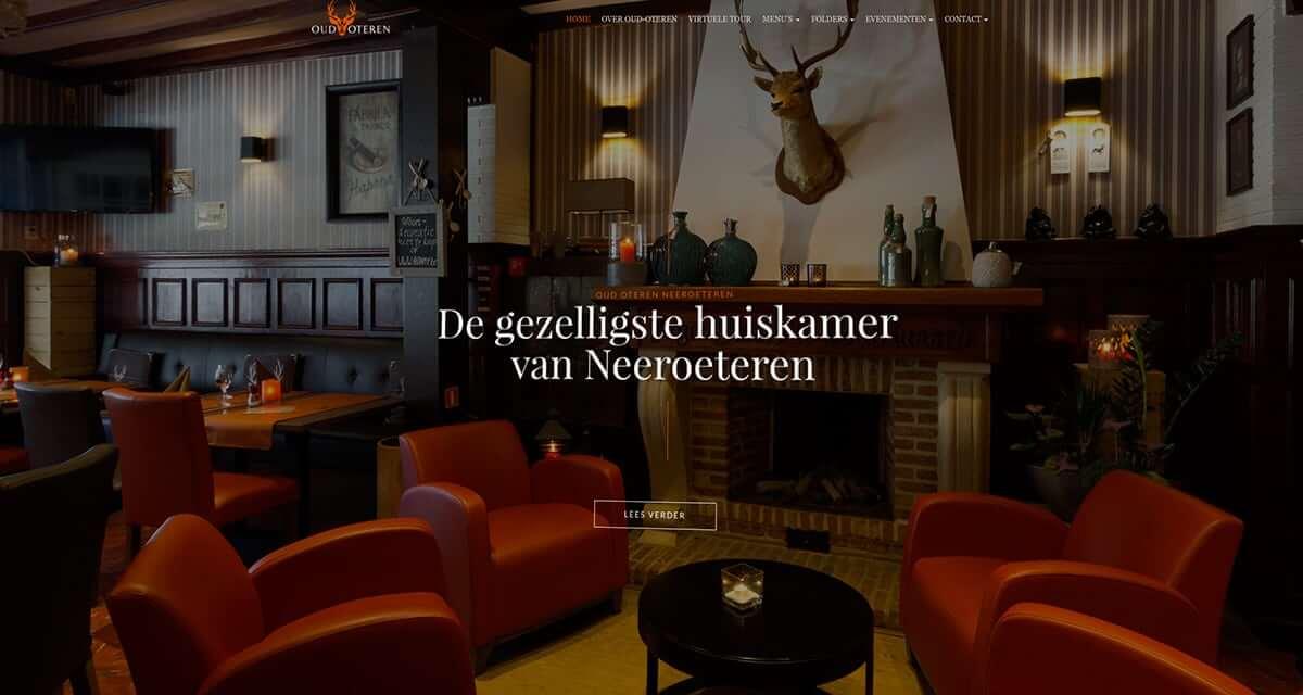 Webdesign, menukaart en fotografie voor Restaurant Oud Oteren