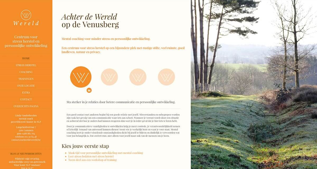"""Website ontwerp """"Achter de Wereld"""""""